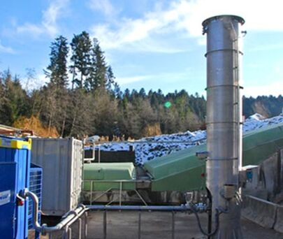 Image of a landfill gas system from the outside