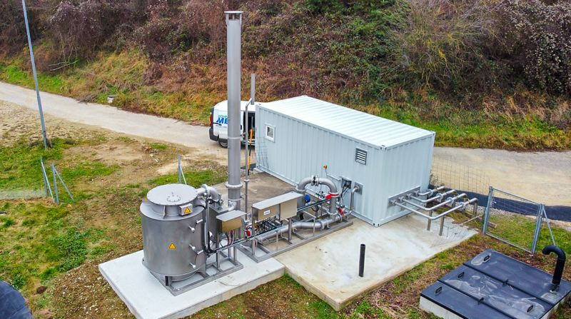 RTO with gas compressor station